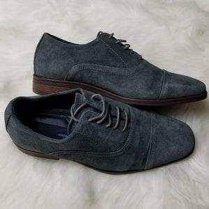 Joseph Abboud Blue Suede Dress Shoes